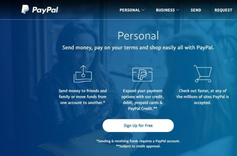 Paypal personal account