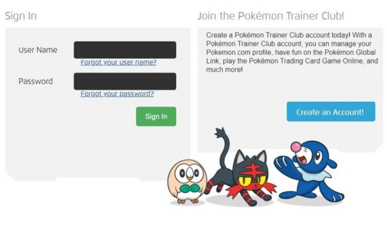 Pokémon Trainer Club Sign – Michaeltaborsky