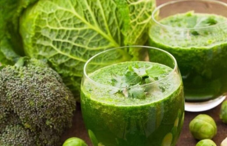 cabbages and spinach green juice