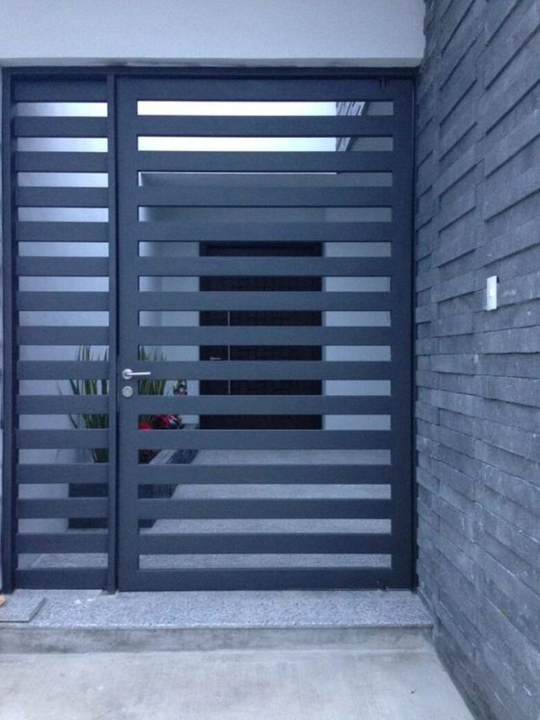10 Creatively Simple Gate Design for Small House (2020 ... on Gate Color Ideas  id=51305