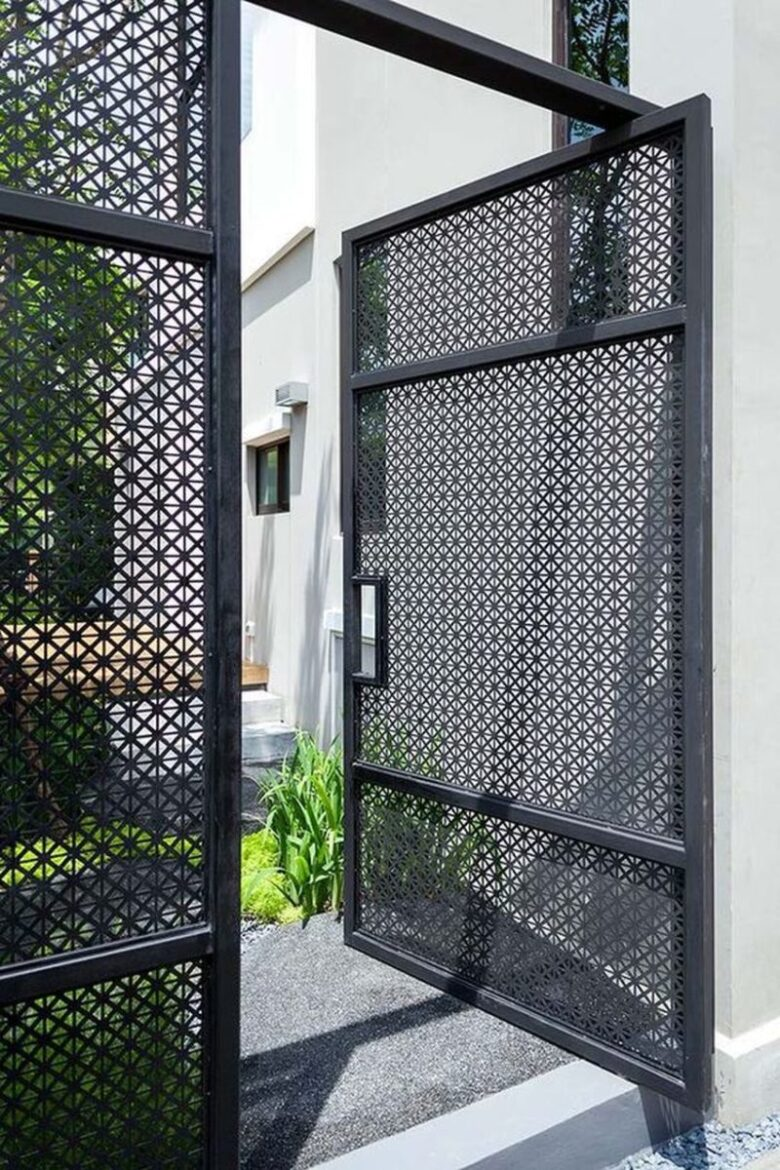 Made Up of Iron Mesh - 42+ Small House Main Gate Design Background