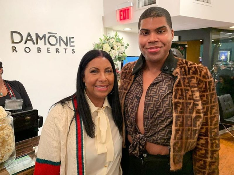 The Son of Magic Johnson Shows Off Some Skin in a Picture with Mom Cookie