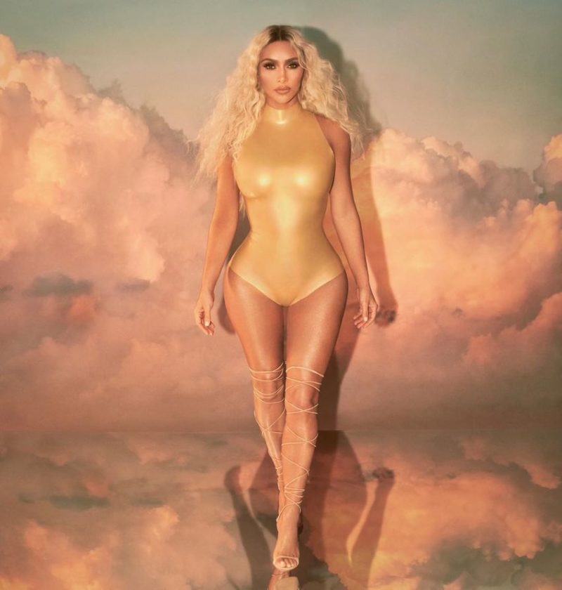 Kim Kardashian Poses as a Blonde Mermaid