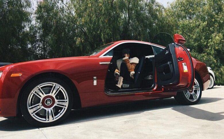 Kylie Jenner Rolls Royce Maroon